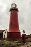 Lage vuurtoren van IJmuiden Lighthouse Royalty Free Stock Photography