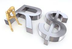 Lagen-Abbildung, die auf realem Symbol sitzt Lizenzfreies Stockfoto