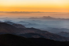 Lagen van berg, Inthanon-berg, Chiang Mai royalty-vrije stock fotografie