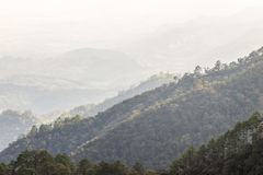 Lagen van berglandschap Royalty-vrije Stock Afbeeldingen