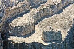 Lagen van rots Stock Foto's