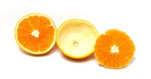 Lagen van Sinaasappel Stock Foto's
