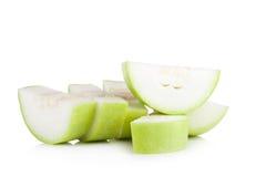 Lagenaria vulgaris fruit isolated on white background Stock Image
