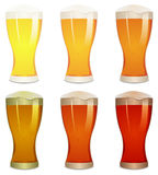 Lager, Amber And Stout Beers Set Royalty Free Stock Images