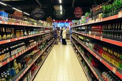 Lager av alkoholdrycker Royaltyfri Foto