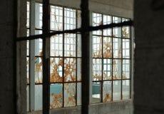 Lager av gamla fönster royaltyfria foton
