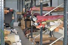 Lager av rullar av naturligt läder Arkivfoton