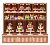Lager av sötsaker och bagerit vektor illustrationer
