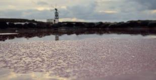 Lager av salt Arkivbild