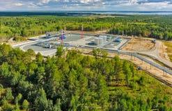 Lager av smält hydrocarbonic gas Tyumen Royaltyfri Bild