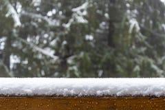 Lager av snö Royaltyfria Bilder