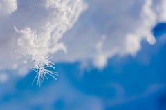 Lager Barneo an den Nordpolschneeebenenschneewürfel-Musterschneeflocken zeichnet Stockbild