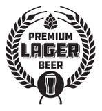 Lager Beer Badge o etichetta Fotografia Stock Libera da Diritti