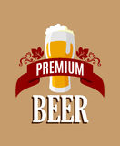 Lager beer banner Royalty Free Stock Photography