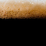 Lager beer on black Royalty Free Stock Image
