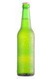 Lager beer bottle. Condensite with clipping path Stock Photo