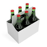 Lager beer bottles Stock Photography