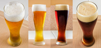 Lager beer and dark beer set Royalty Free Stock Photography