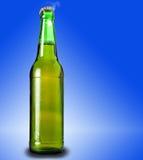 Lager beer in glass bottle Stock Image