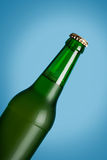 Lager beer in glass bottle Stock Photography