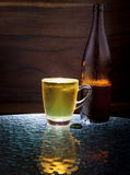 Lager beer in glass Royalty Free Stock Photography