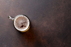 Lager beer mug Royalty Free Stock Photos