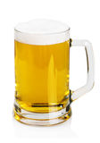 Lager beer in a mug on a white Royalty Free Stock Image