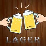 Lager Beer Shows Public House et Alès illustration libre de droits