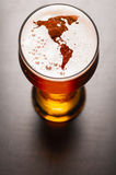 Lager beer on table Stock Photography