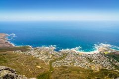 Lager-Bucht in Cape Town lizenzfreie stockbilder