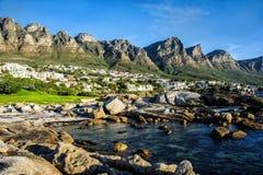Lager-Bucht, Cape Town, Südafrika stockfotografie