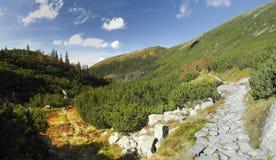 Lager deel van dolina Smutna in bergen Tatra Royalty-vrije Stock Foto's