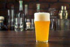 Lager dorata di rinfresco della birra fotografia stock