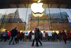 Lager för Apple produktflaggskepp Fotografering för Bildbyråer