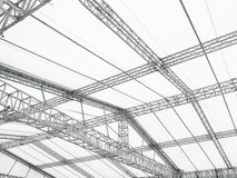 Lager f?r bransch f?r detaljer f?r arkitektur f?r ram f?r st?lkonstruktionsbyggnad fotografering för bildbyråer