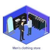 lager för klädmän s Royaltyfri Fotografi