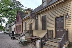 Lager för koloniinvånareWilliamsburg smycken på skymning Fotografering för Bildbyråer