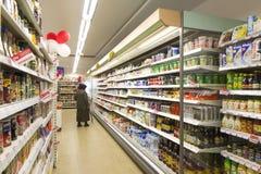lager för kundlivsmedelsbutikshopping Fotografering för Bildbyråer