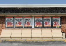 lager för livsmedelsbutikförsäljningstecken Royaltyfri Foto