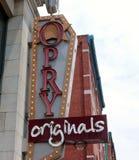 Lager för Opry originallivsstil, i stadens centrum Nashville, Tennessee Royaltyfria Foton