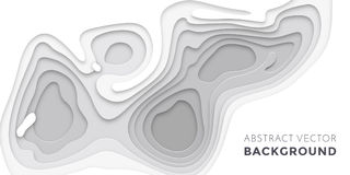 lager för papercut 3D, mall för website för textur för baner för bakgrund för konst för papperssnittvektor stock illustrationer