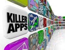 lager för programvara för mördare för applikationappsnedladdning Arkivbild