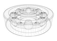 Lager för rulle för stålboll vektor illustrationer