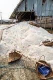 Lager för salt lager Arkivbilder