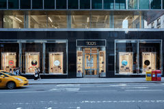 Lager för Tod ` s i Madison Avenue, i New York Royaltyfri Foto