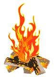 Lager-Feuer Stockfoto
