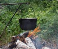 Lager-Feuer Lizenzfreies Stockfoto