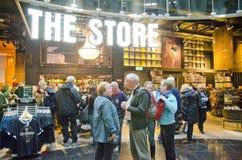 Lager Guinness magasin, Dublin, Irland Arkivfoto