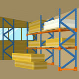 Lager-Hangar-Gebäude-Vektor im flachen Design vektor abbildung