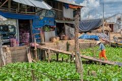Lager im der Mekong-Delta Stockbild